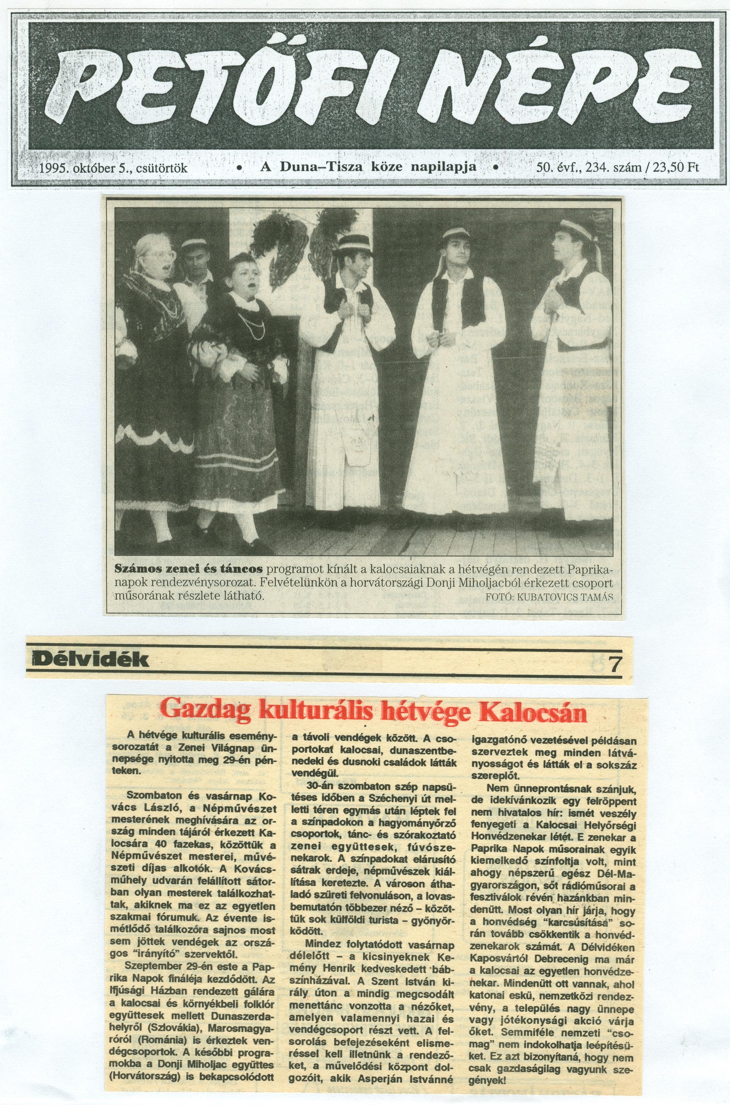 b7eefac453 Magyar Nemzeti Digitális Archívum • Paprikaszüret '95