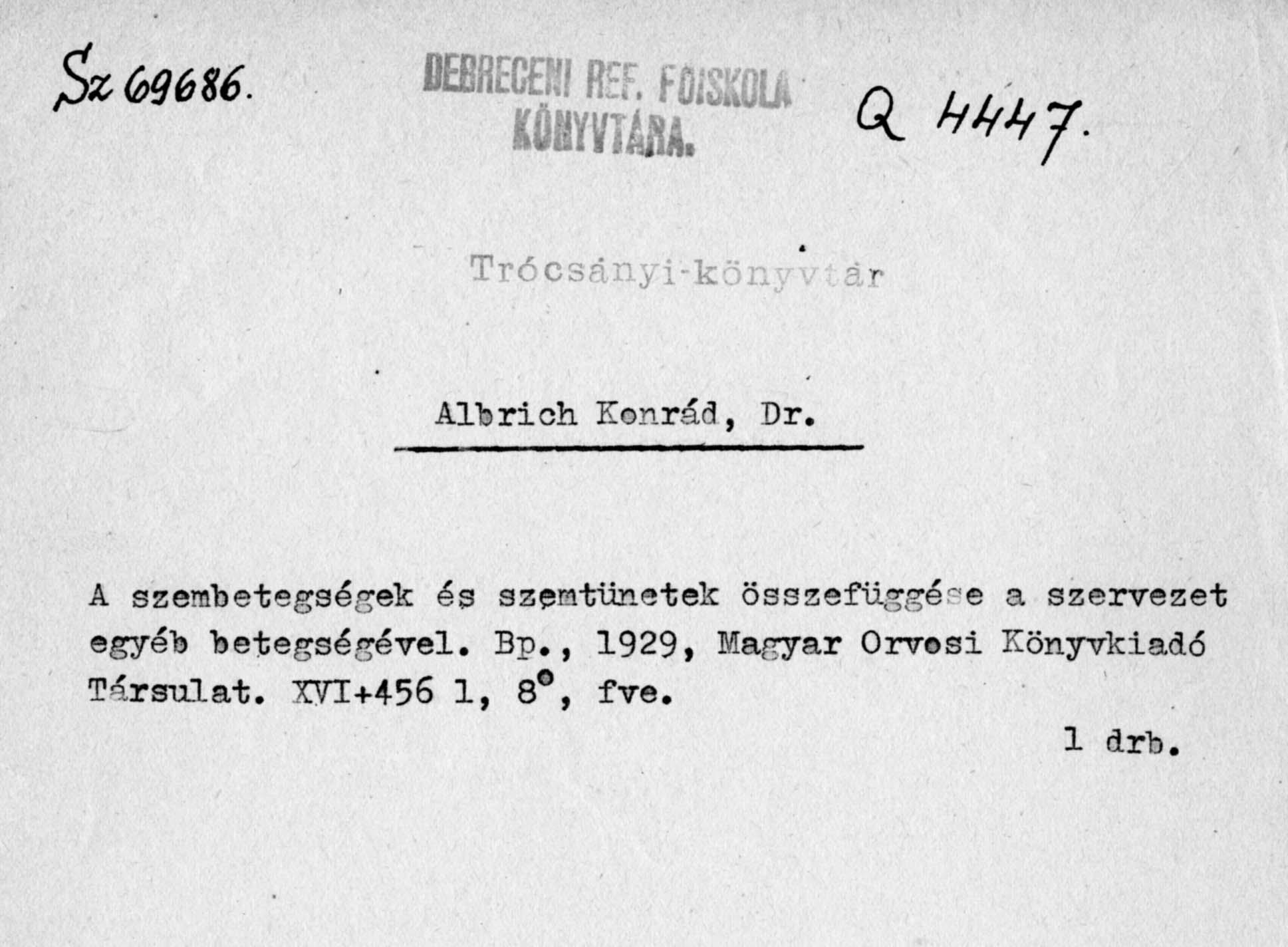 Magyar Nemzeti Digitális Archívum • Dr. Albrich Konrád 7bf187d419