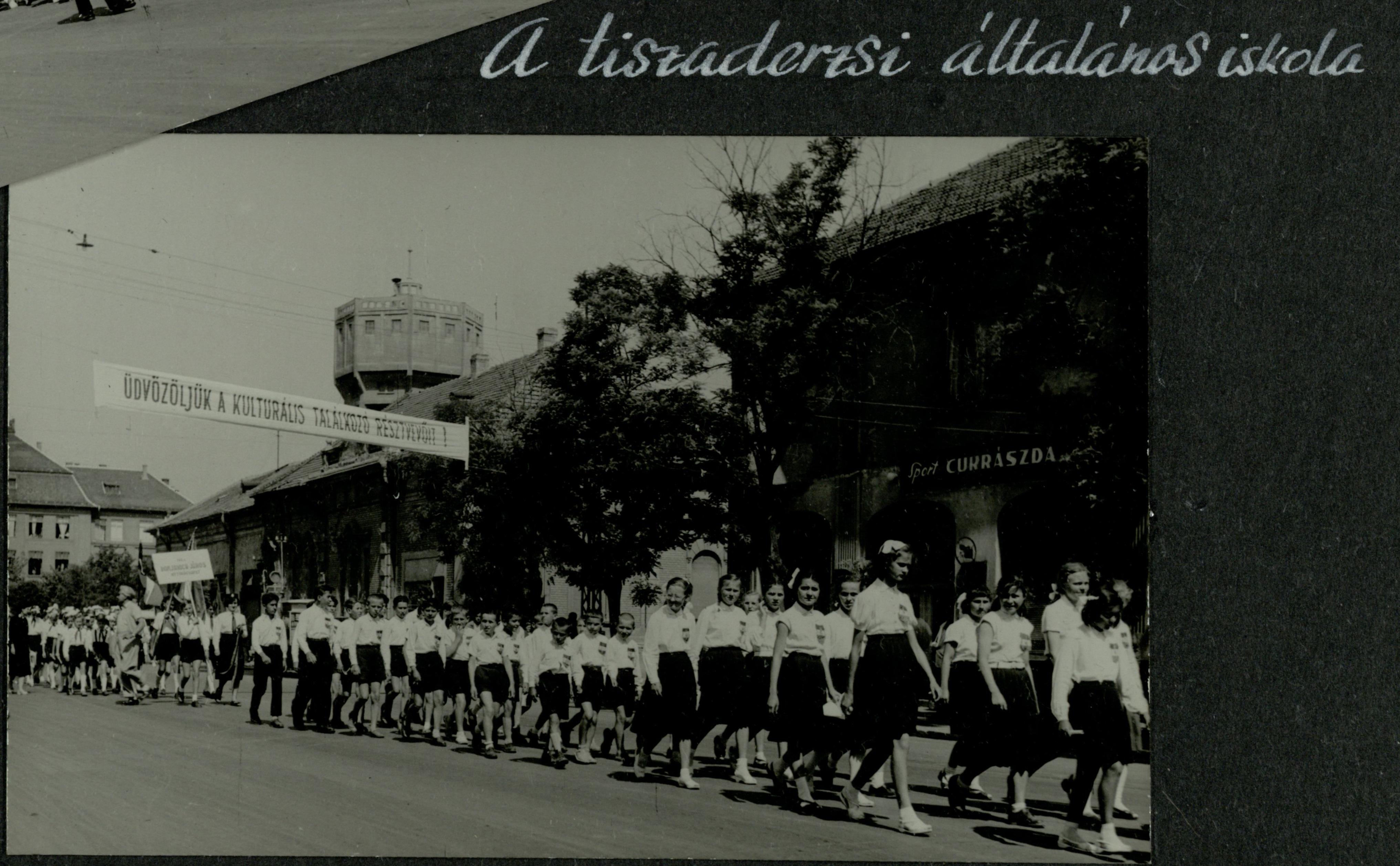 Tiszaderzsi általános Iskola 1958