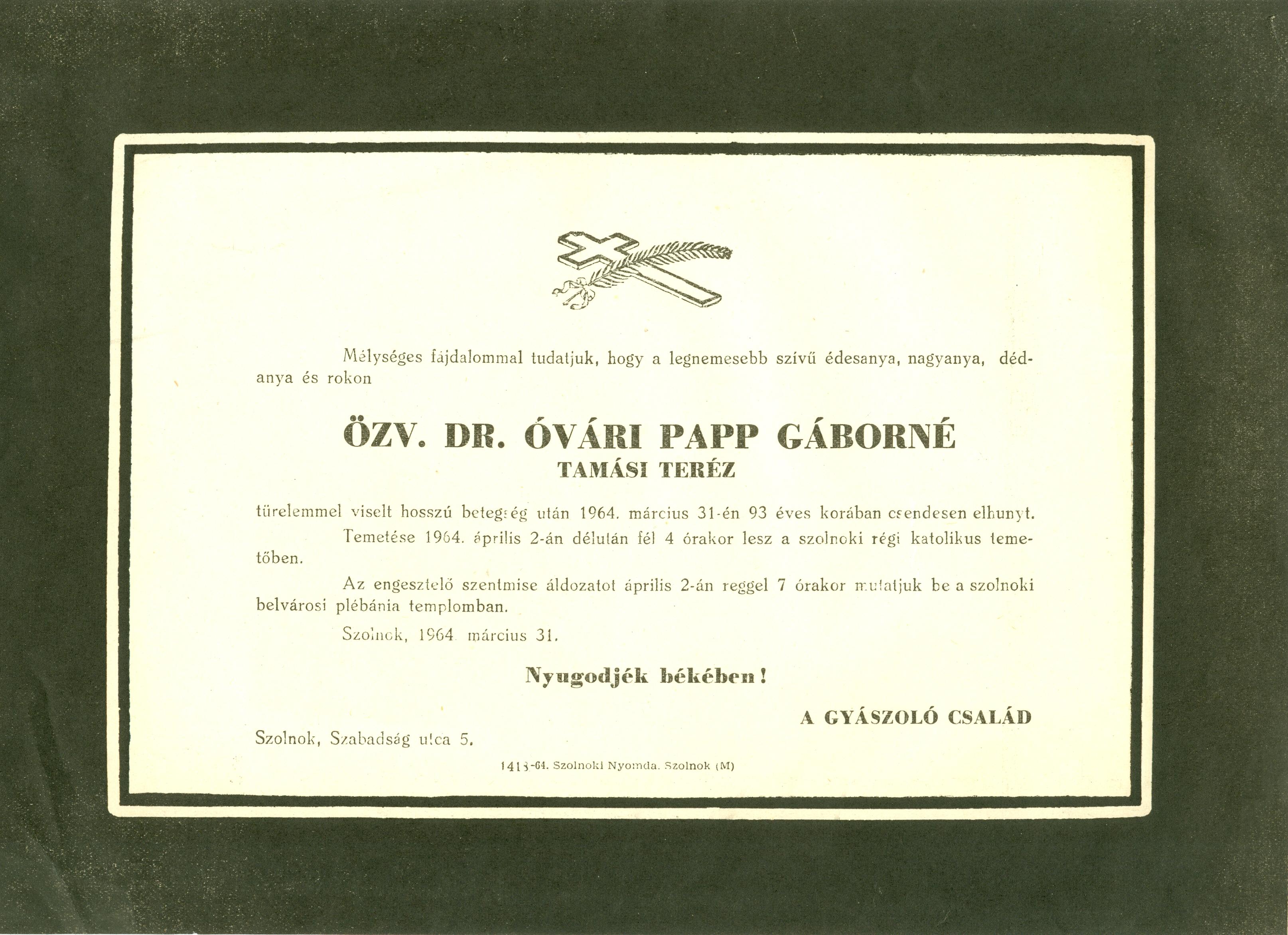 Óvári Papp Gáborné