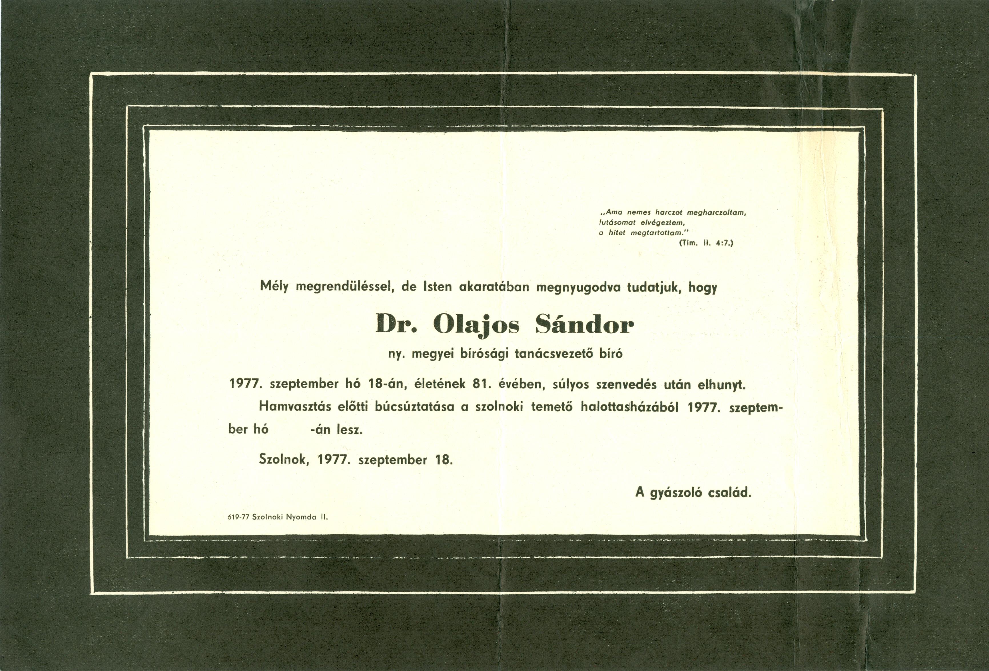 Olajos Sándor