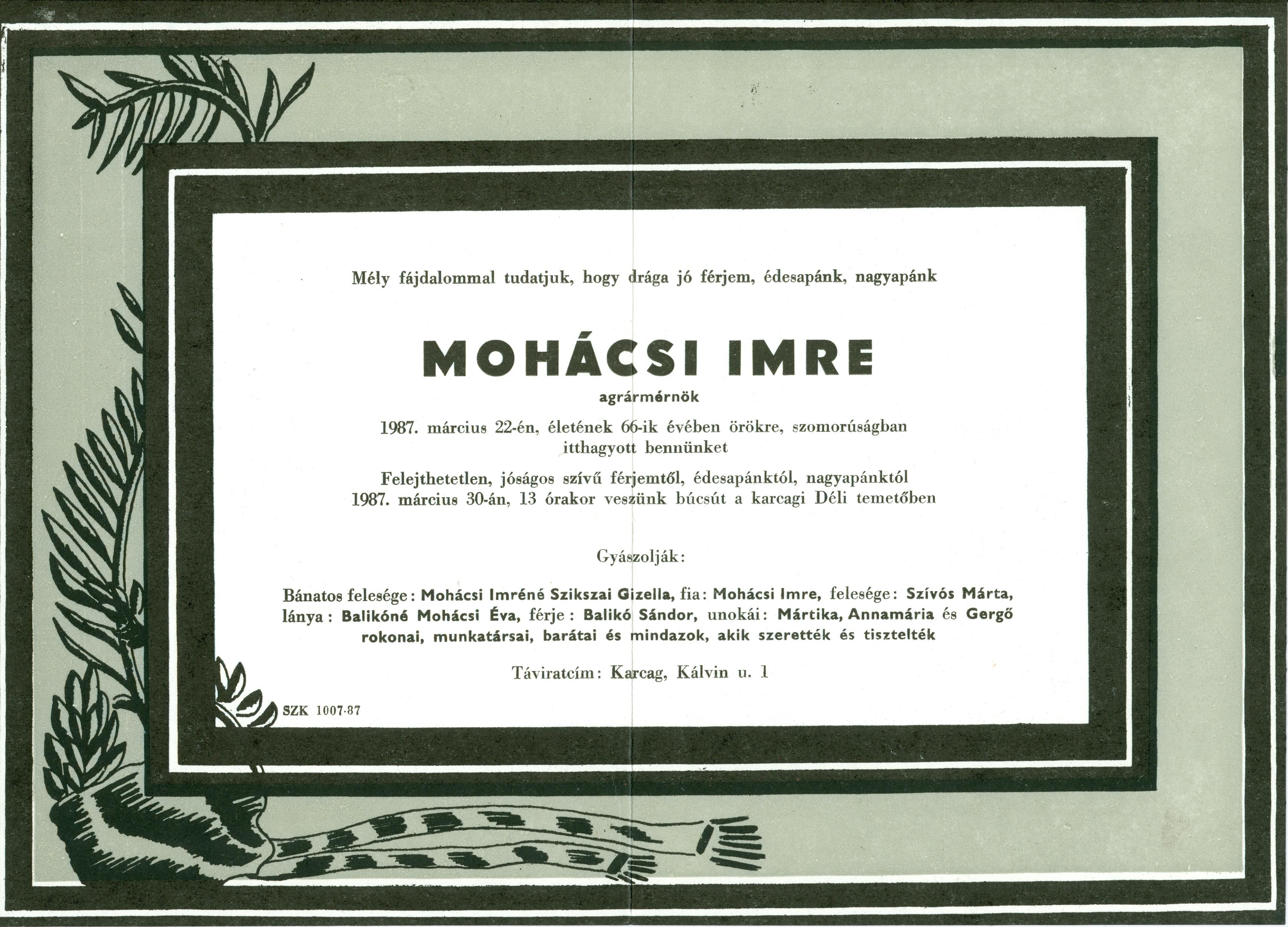 Mohácsi Imre