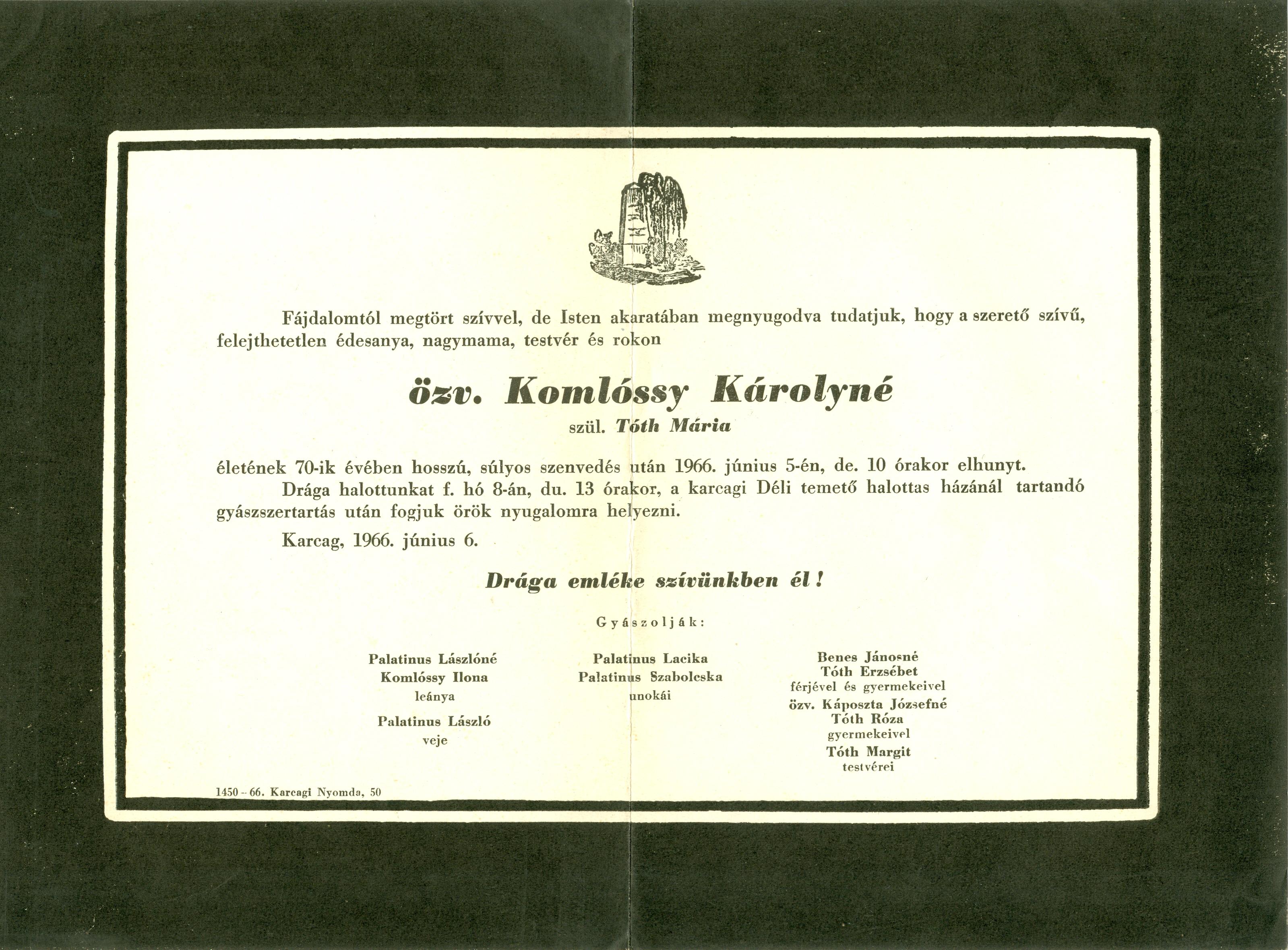 Komlóssy Károlyné