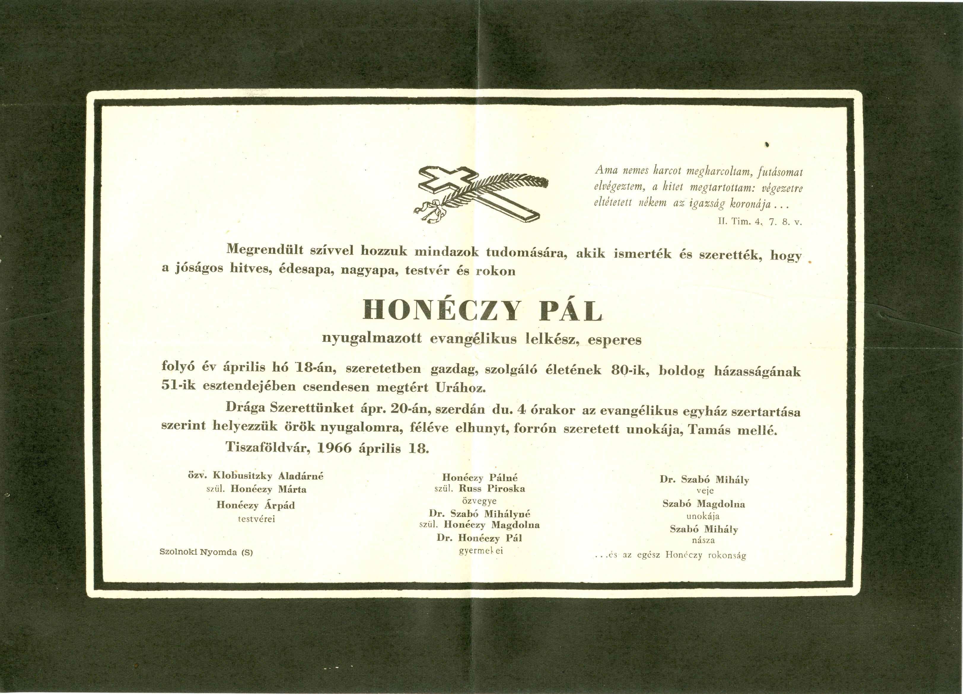 Honéczy Pál