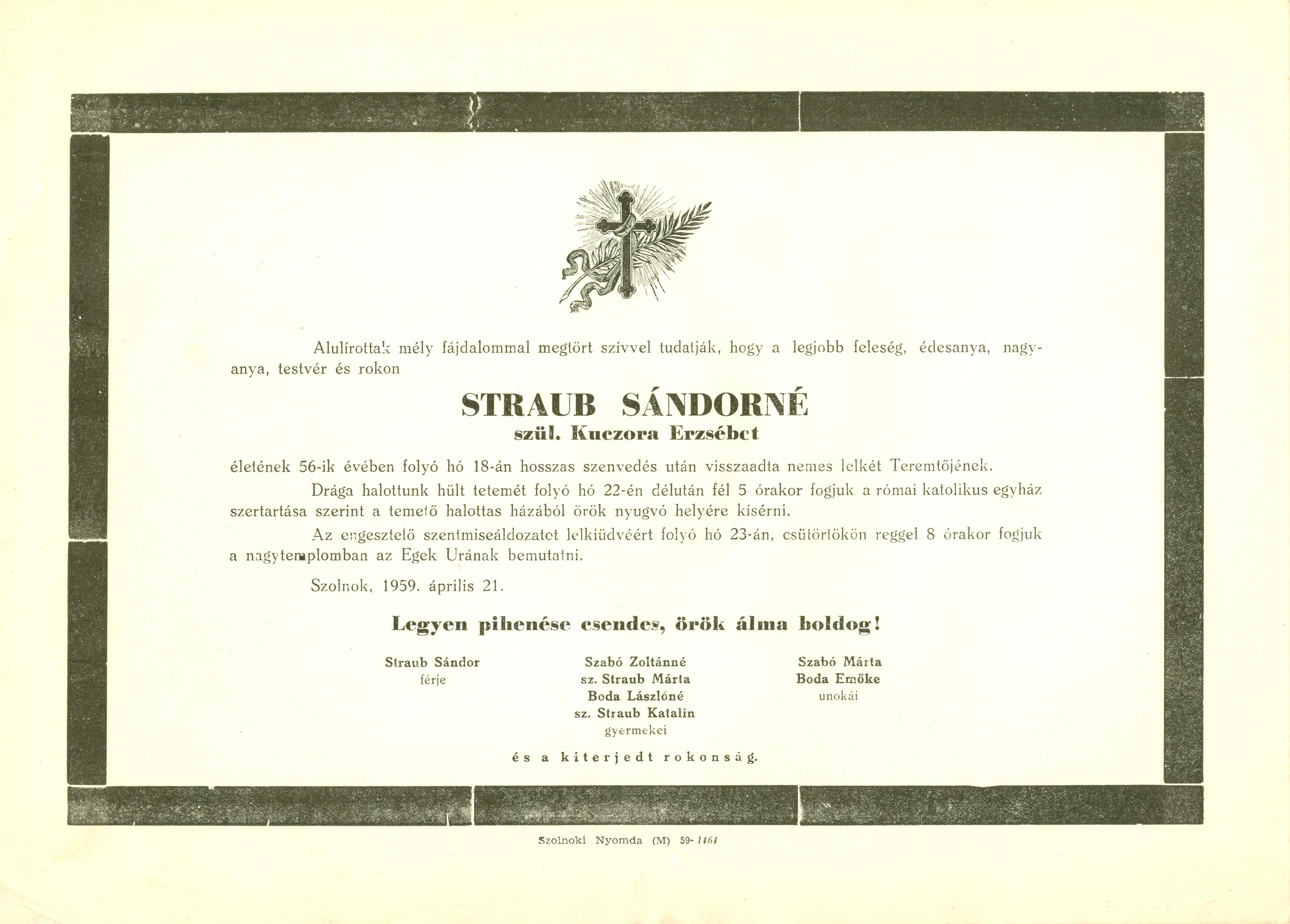 Straub Sándorné