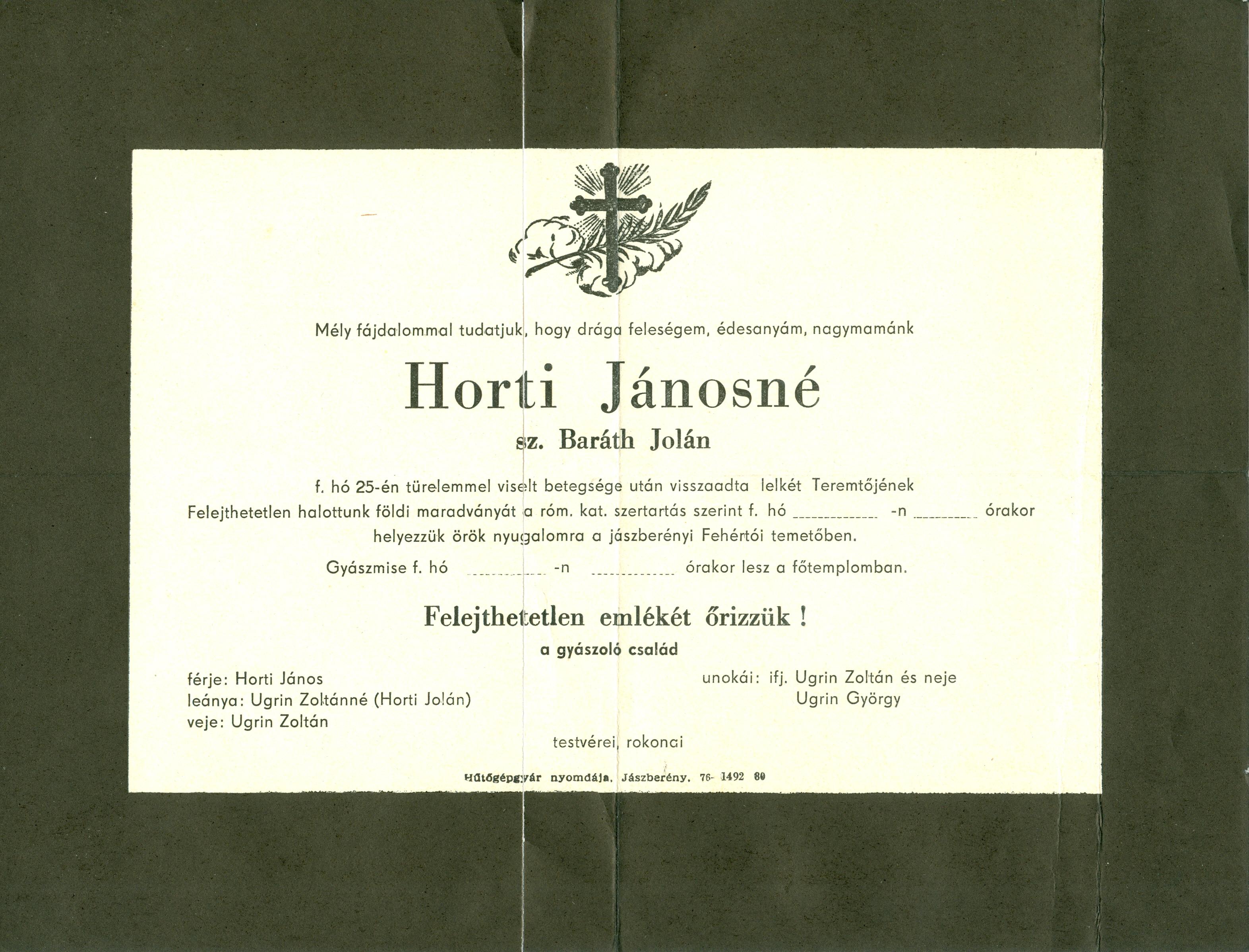 Horti Jánosné