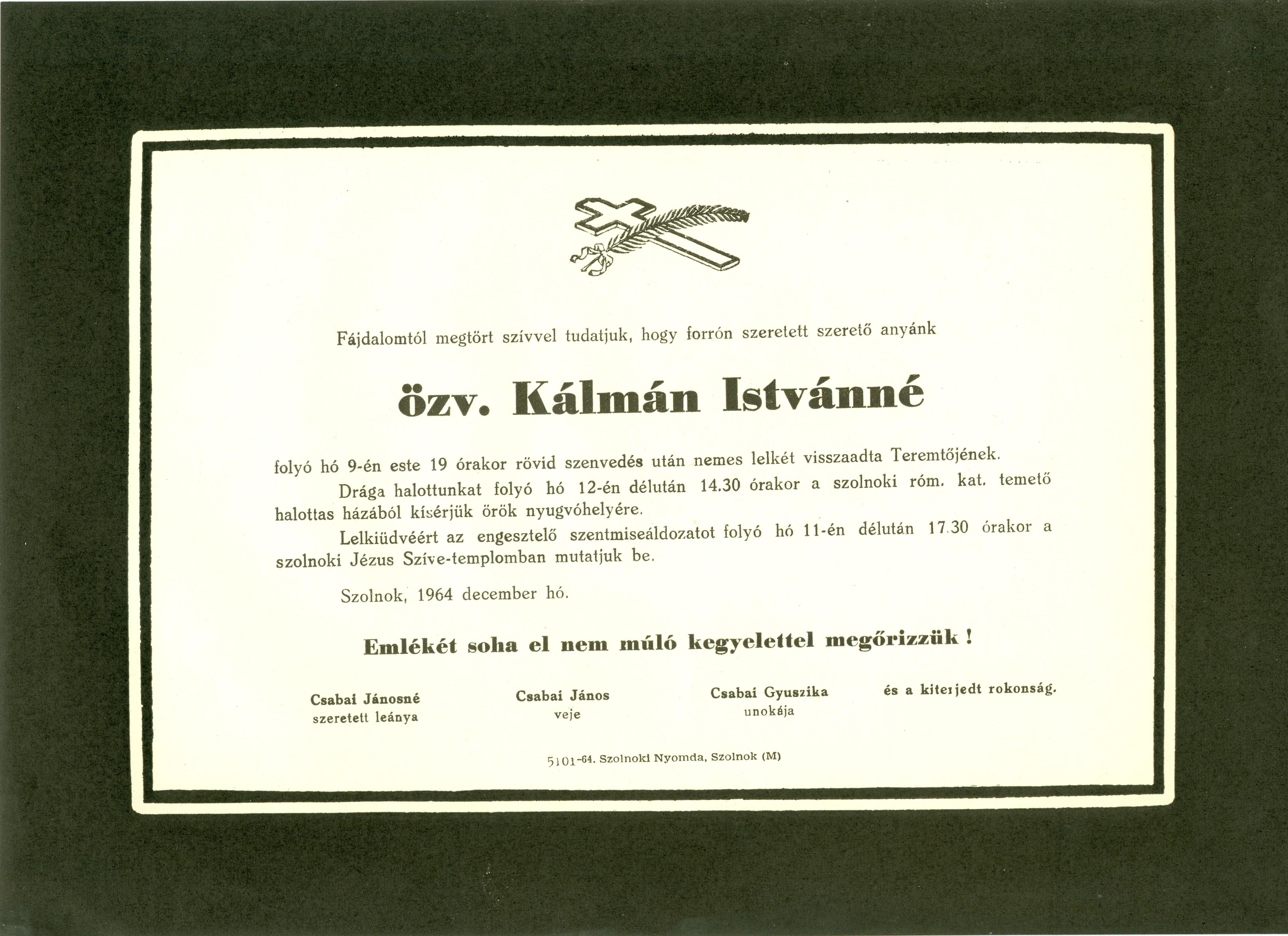 Kálmán Istvánné
