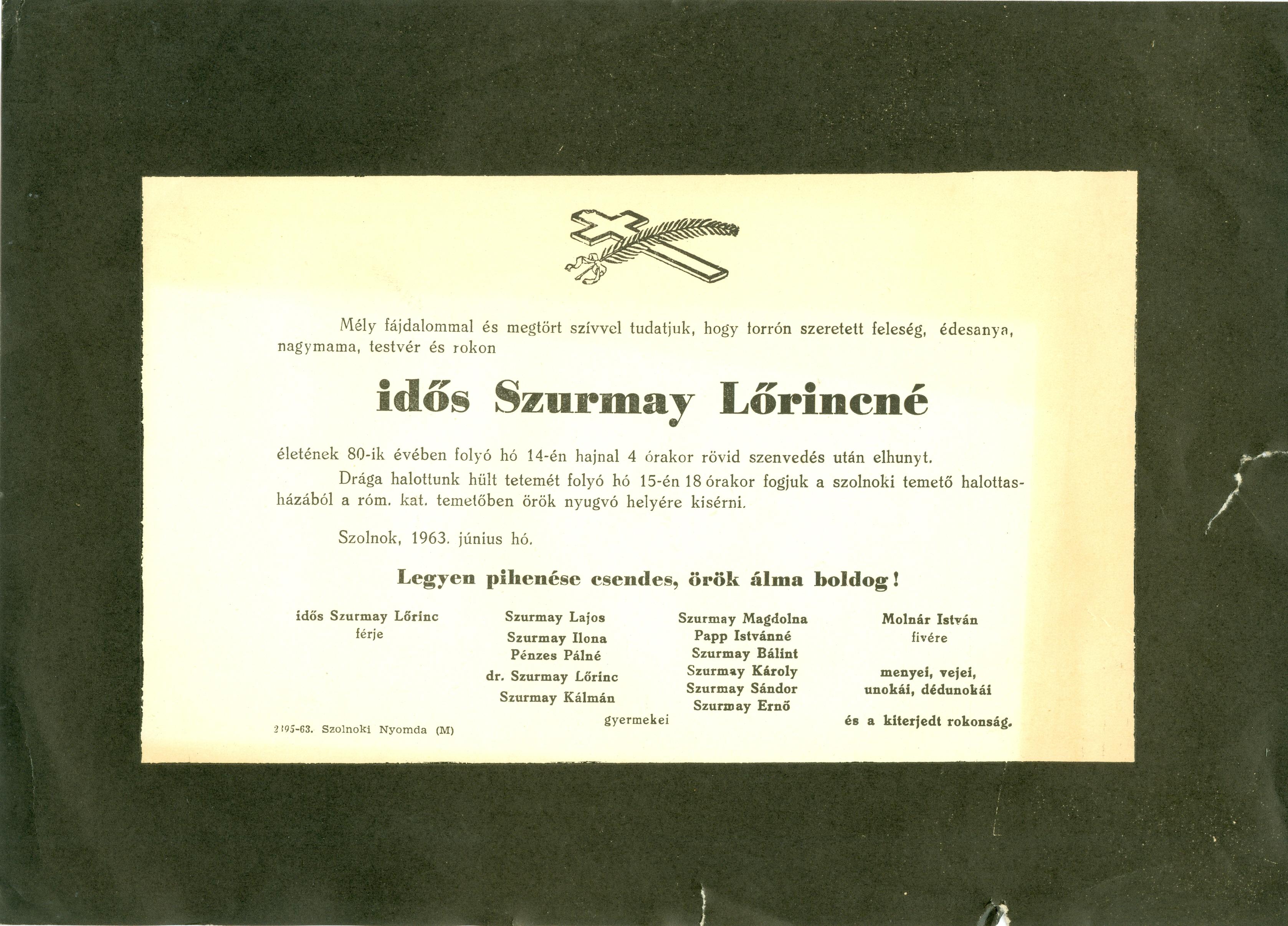 Szurmay Lőrincné