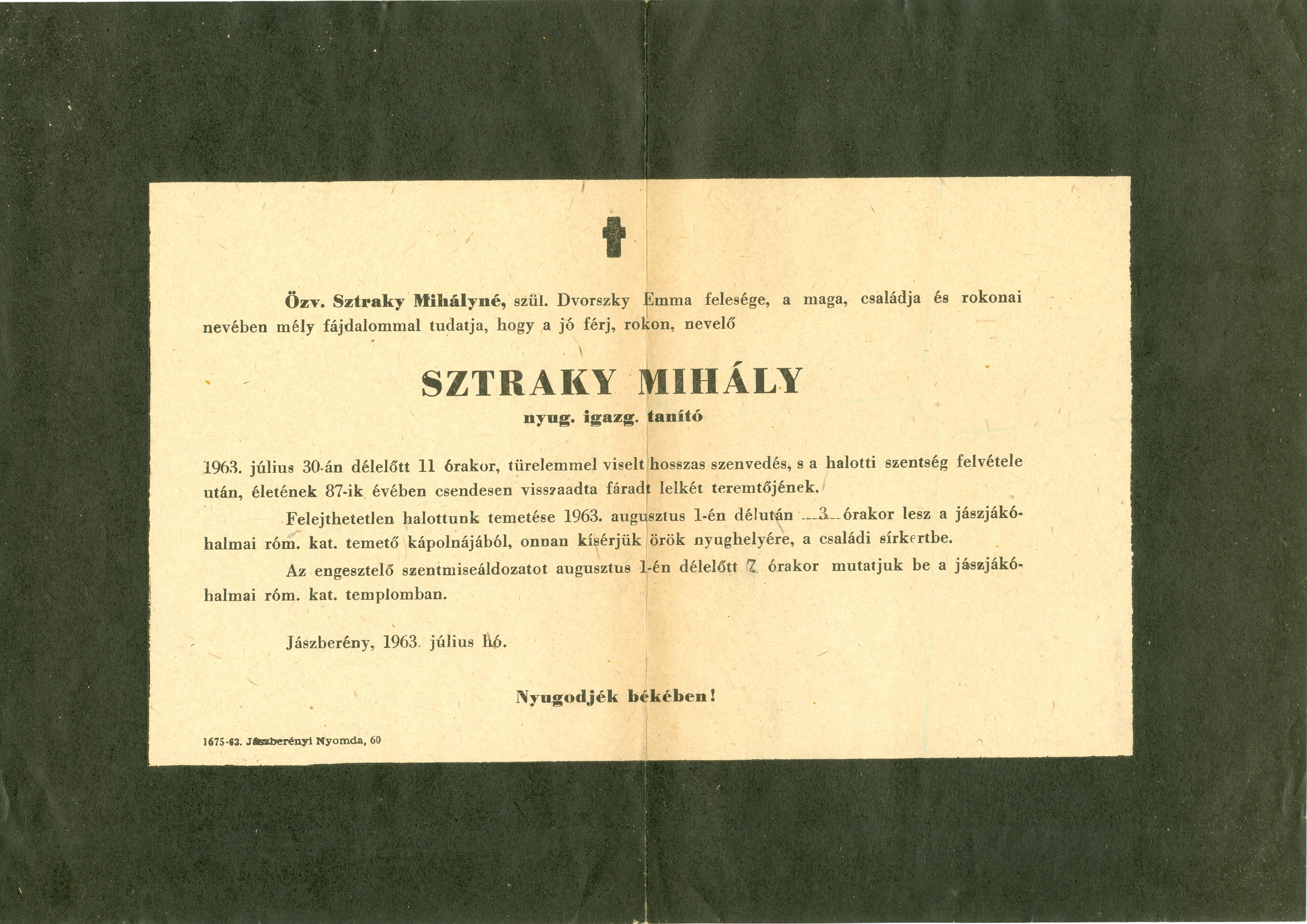 Sztraky Mihály