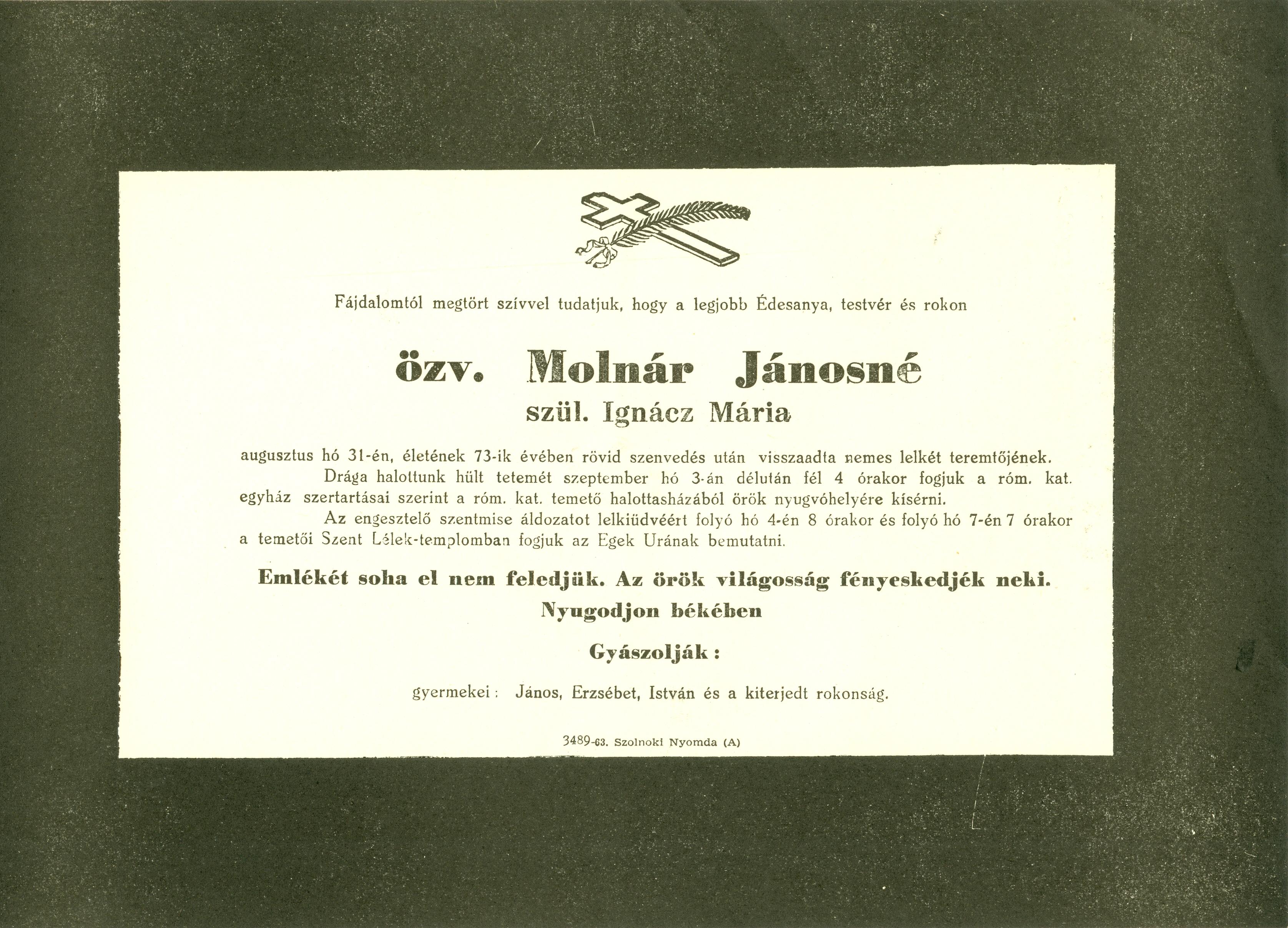 Molnár Jánosné