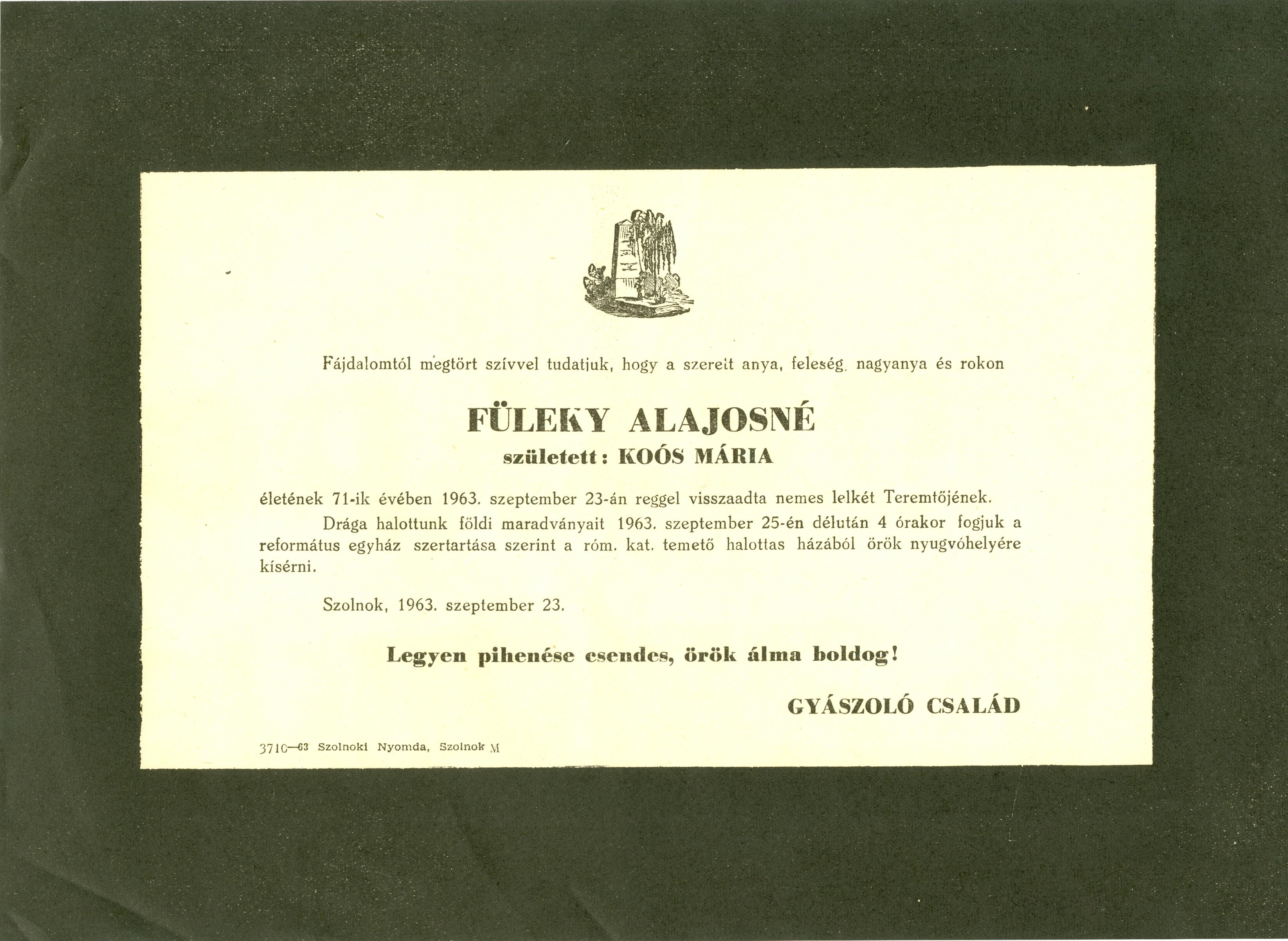 Füleki Alajosné