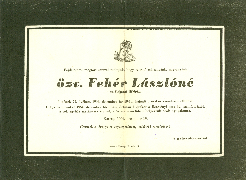 Fehér Lászlóné