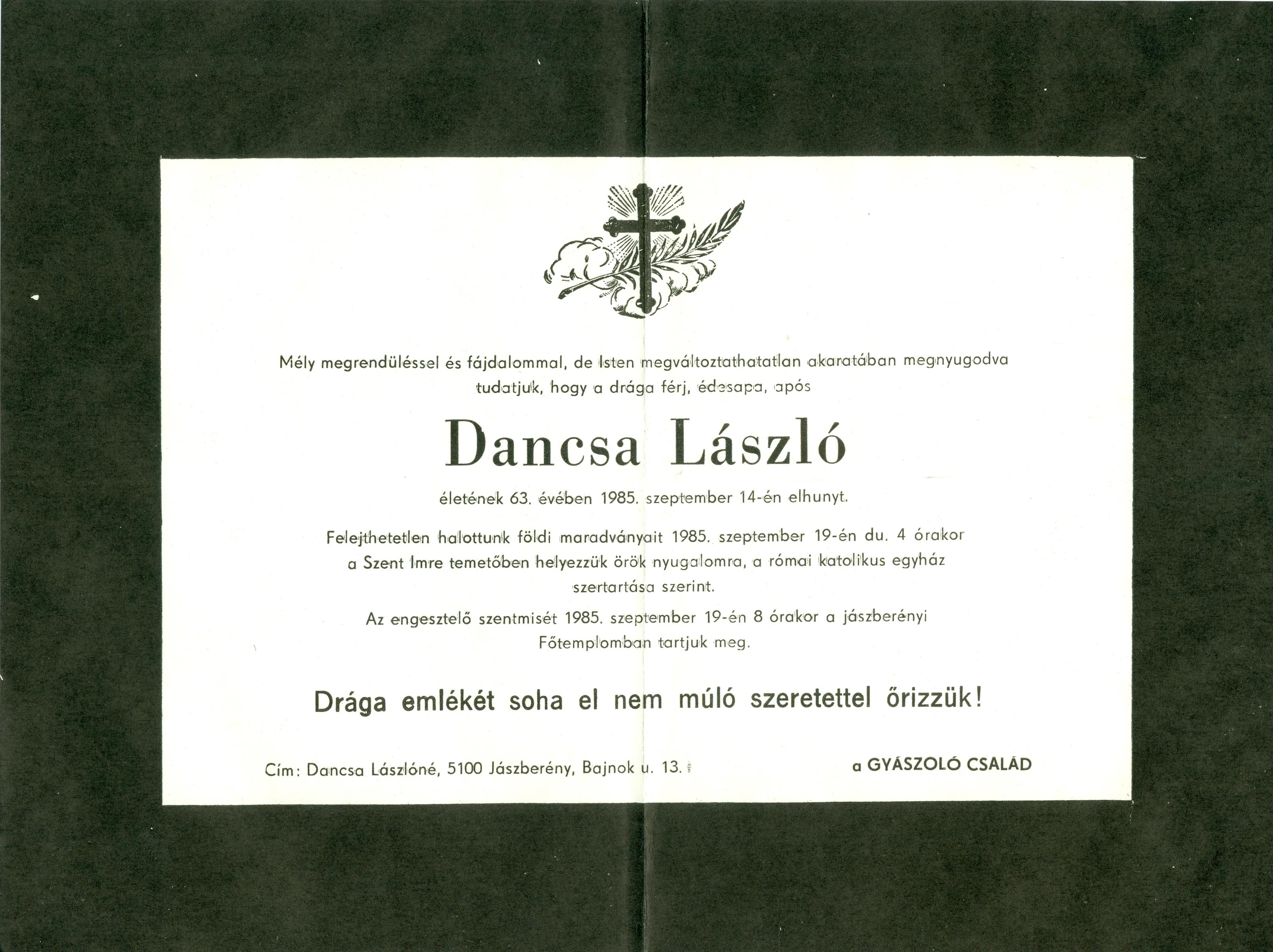 Dancsa László