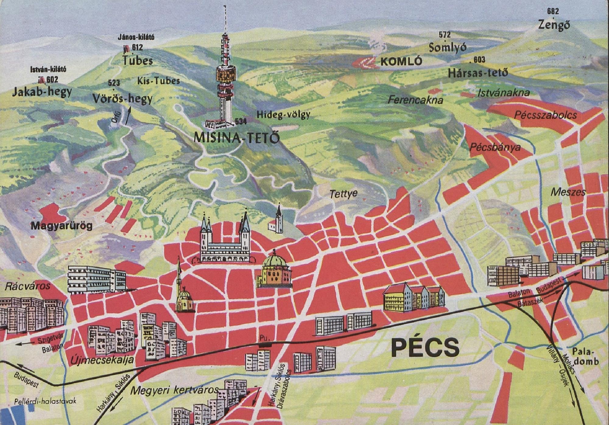 pécs térkép Magyar Nemzeti Digitális Archívum • Pécs térkép
