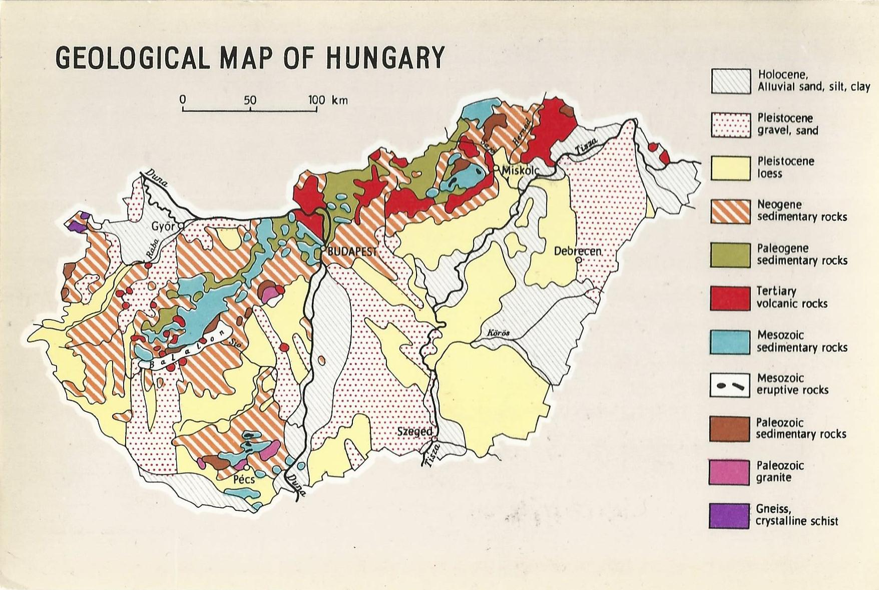 Magyar Nemzeti Digitalis Archivum Magyarorszag Foldtani Terkepe