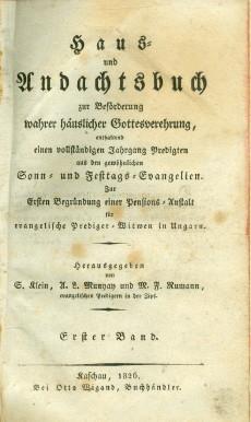 HAUS-und Andachtsbuch