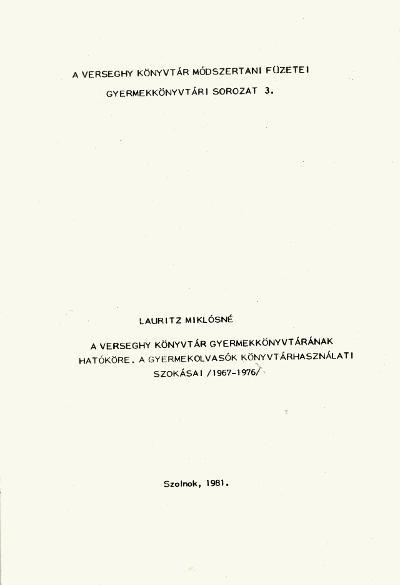 Gyermekkönyvtár 1981