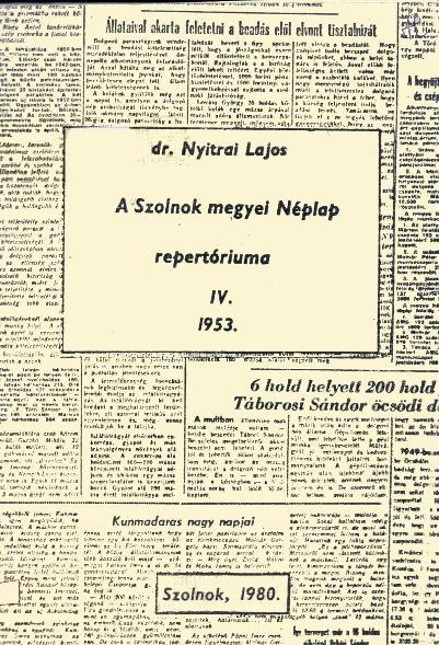 Néplap 1953