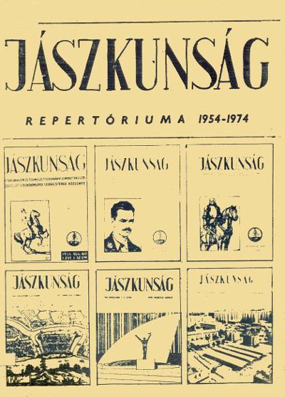 Jászkunság repertórium címlapja
