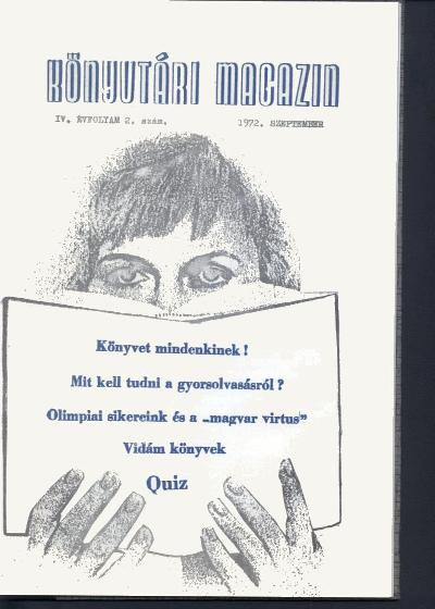 Könyvtári magazin címlapja