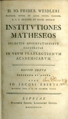 Institutiones matheoseos