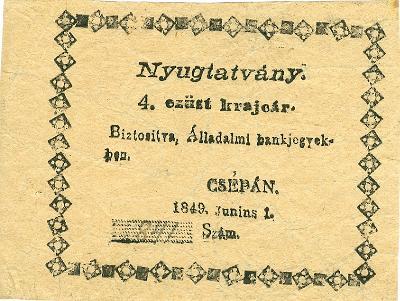 csépai szükségpénz