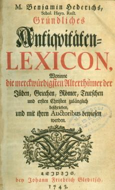 Gründliches Antiquitaten Lexicon