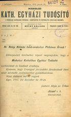 Miskolczi Kath. Egyh. Tud. 1912. 6/15
