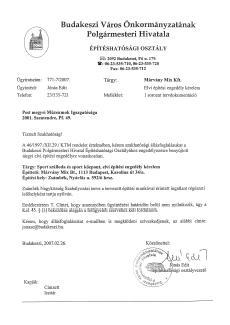 Zsámbék építési engedélyek