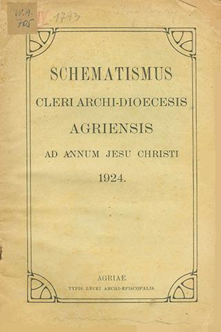 Agriensis 1924