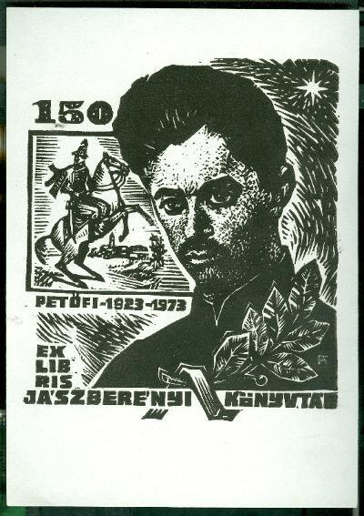 Jászberényi Könyvtár 1973 Petőfi Sándor 1923-1973 Fery Antal szignált (FA)