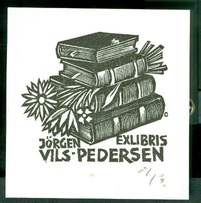 Jörgen Vils-Pedersen / Herbert Ott szignált (OTT), ceruzával aláírt könyvek, virágok
