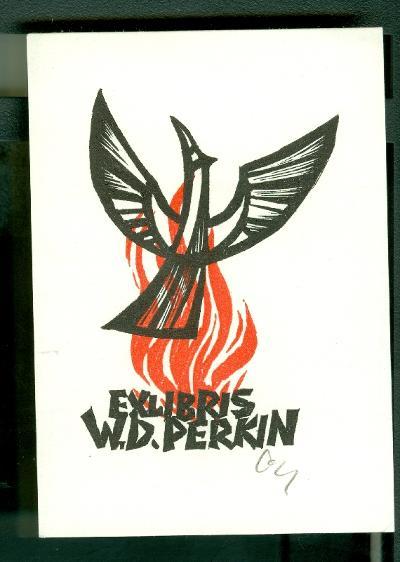 W. D. Perkin / Herbert Ott szignált (OTT), ceruzával aláírt főnix, mitológia