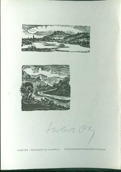 Herbert Ott/Antonin Dolezal szignált (OTT), ceruzával aláírt 2 db tájkép Fränkische Schweiz