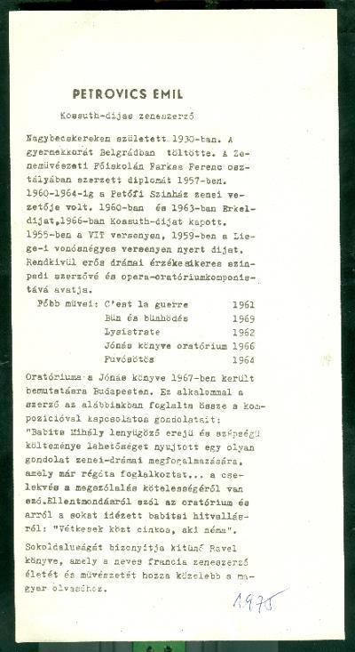 Ünnepi Könyvhét Szolnok 1975 Petrovics Emil