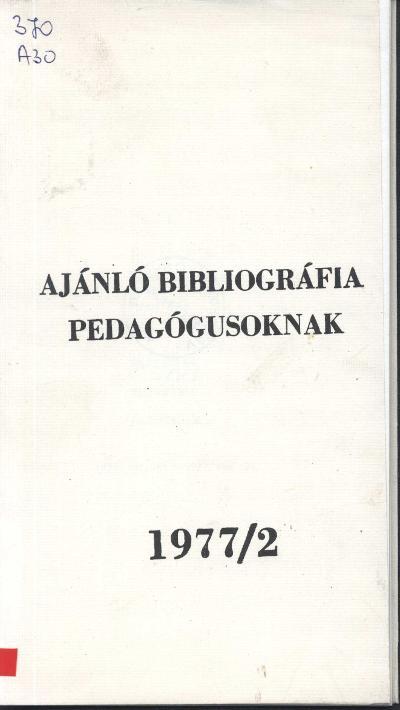 Bibliográfia címlapja