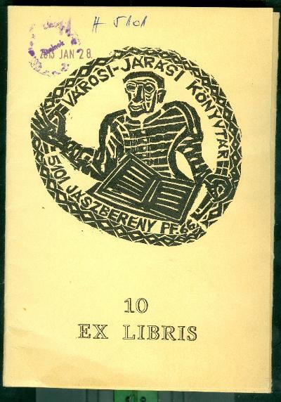 Jászberény Városi és Járási Könyvtár kisebb mappa, amiben 10 db eredeti dúcról nyomtatott metszet van előlap