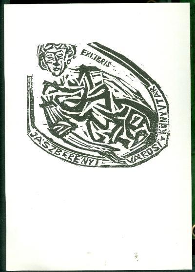 Jászberény Városi és Járási Könyvtár női alak, (kisebb mappában van, amiben 10 db eredeti dúcról nyomtatott metszet van. Ez az 3.)