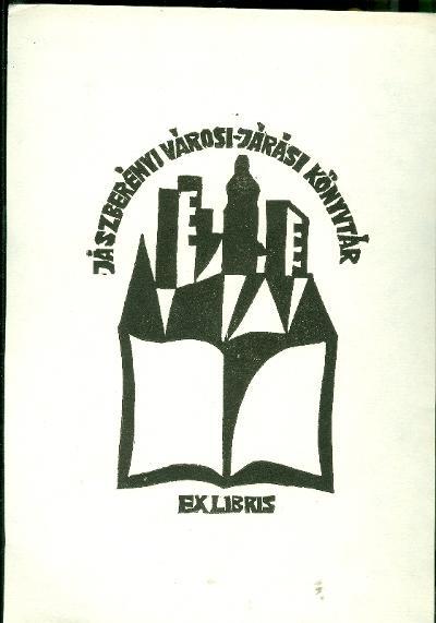 Jászberény Városi és Járási Könyvtár városkép (kisebb mappában van, amiben 10 db eredeti dúcról nyomtatott metszet van. Ez az 5.)