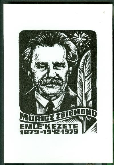 Móricz Zsigmond emlékezete 1879-1942-1979 Fery Antal - szignált (FA) Móricz Zsigmond portréja