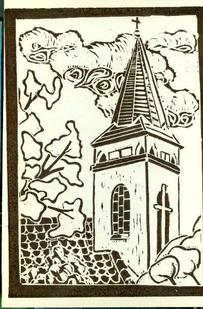 Berekfürdő, Római Katolikus Templom Magyarország gyermekszemmel linómetszetekben Szávai István és a Szolnoki Metszőkör