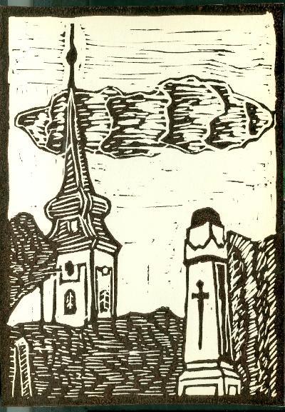 Tiszabura, Református Templom Magyarország gyermekszemmel linómetszetekben Szávai István és a Szolnoki Metszőkör
