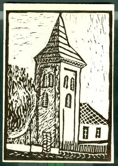 Tiszaföldvár-Ószőlő, Református Templom Magyarország gyermekszemmel linómetszetekben Szávai István és a Szolnoki Metszőkör