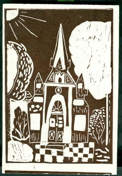 Tiszavárkony, Kisboldogasszony Templom Magyarország gyermekszemmel linómetszetekben Szávai István és a Szolnoki Metszőkör