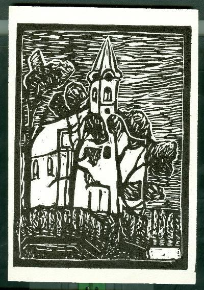 Tiszavárkony, Római Katolikus Templom Magyarország gyermekszemmel linómetszetekben Szávai István és a Szolnoki Metszőkör