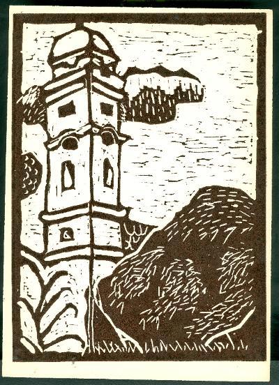 Tiszafüred, Református Templom Magyarország gyermekszemmel linómetszetekben Szávai István és a Szolnoki Metszőkör