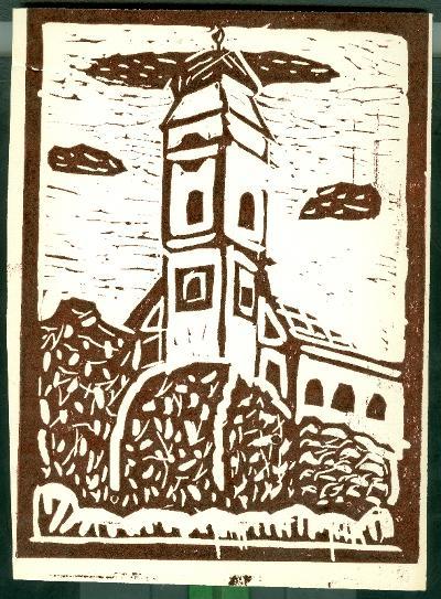 Tiszafüred, Szűz Mária Mennybemenetele templom Magyarország gyermekszemmel linómetszetekben Szávai István és a Szolnoki Metszőkör