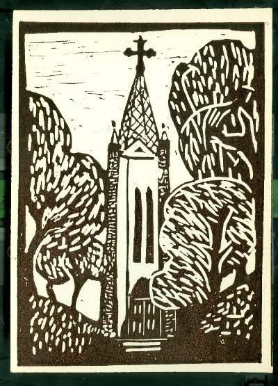 Tiszaföldvár-Homok, Római Katolikus Templom Magyarország gyermekszemmel linómetszetekben Szávai István és a Szolnoki Metszőkör