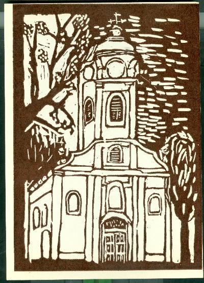 Cibakháza, Római Katolikus Templom Magyarország gyermekszemmel linómetszetekben Szávai István és a Szolnoki Metszőkör
