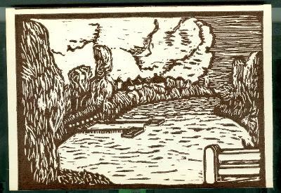 Cibakháza, vízpart Magyarország gyermekszemmel linómetszetekben Szávai István és a Szolnoki Metszőkör
